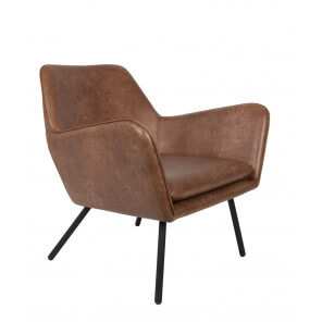 Fauteuil lounge Alabama brown