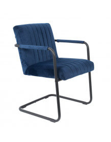 Armchair Stitched blue