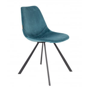 Chaise de repas Franky bleu