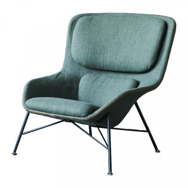 Fauteuil design Rockwell vert