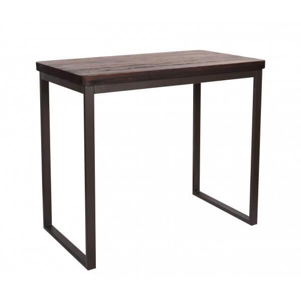 Table haute Plateau bois foncé
