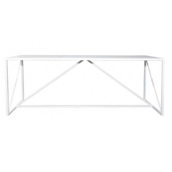 Dining or desk table in white Steel
