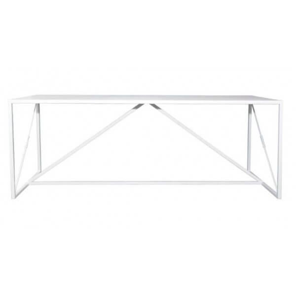 Table ou bureau en acier blanc