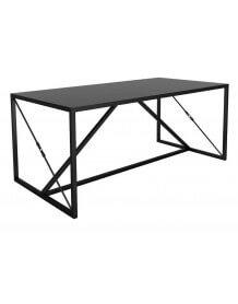 Table ou bureau en acier noir