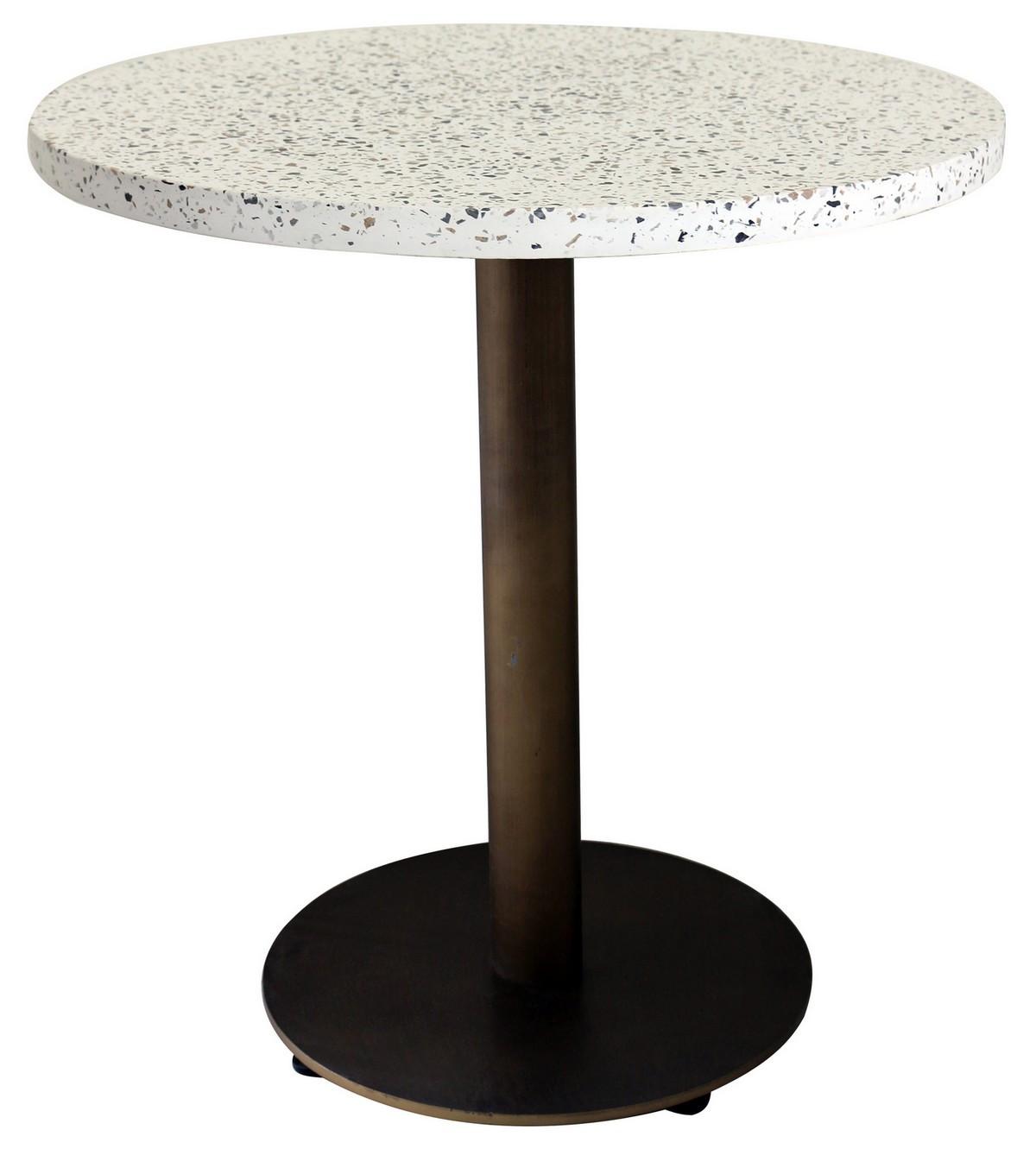 Plateau De Table En Pierre Naturelle table de repas terrazzo bronze