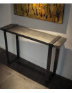 Side table in crude steel
