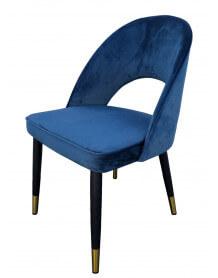 Chaise repas bleue profil