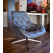 Fauteuil lounge confortable gris