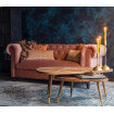 Pink velvet Chester Sofa Dutchbone