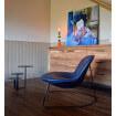 Fauteuil design contemporain bleu