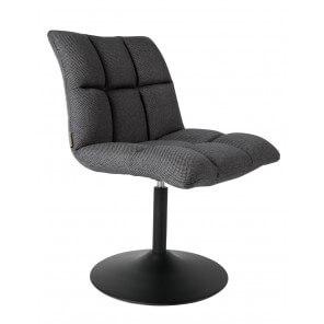 Chaise de bureau ou de repas gris foncé